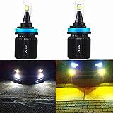 ALLA Lighting H8 H9 H11 LED Switchback Fog Lights Super Bright 8000Lm H11 Switchback Fog/Bulbs...