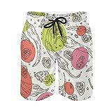 QUEMIN Pantalones Cortos de la Playa del Lazo de los Hombres, Malla de Secado rápido de la guarnición de los Troncos de la natación de la Pimienta...