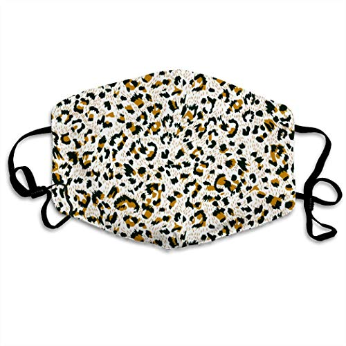 MOSDELU Leopard Grain Washable   Reusable   Adjustable Earring   Double Layer Dust