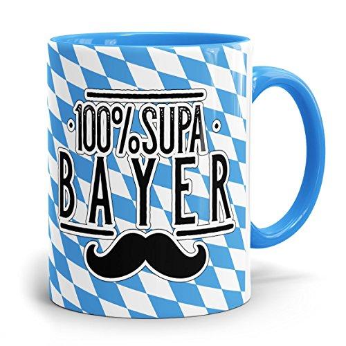 Drucksaal Bayerische-Kaffeehaferl-Bayern-Tassen-Becher-Tasse 100 Prozent Supa Bayer