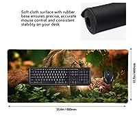 ねこ 遊ぶ 家族 マウスパッド ゲーミングマウスパット デスクマット キーボードパッド 滑り止め 高級感 耐久性が良い デスクマットメ キーボード パッド おしゃれ ゲーム用(90cm*40cm)