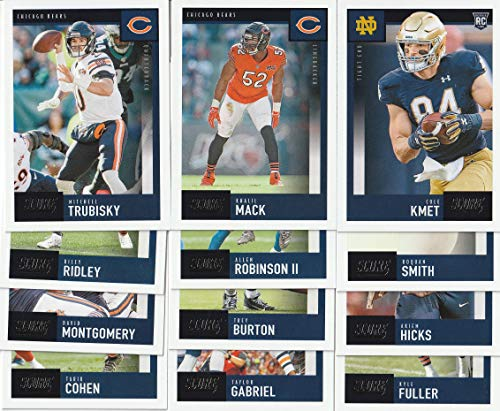 2020 Panini Score Football Chicago Bears Team Set 12 Cards W/Drafted Rookie Mitchell Trubisky Khalil Mack
