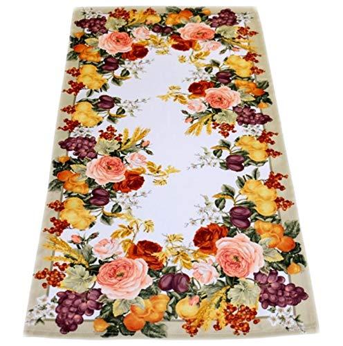 Raebel Tischdecke Pflegeleicht Tischläufer Decke Rosendecke Herbst Druckdecke (35 x 70 cm)