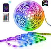 Tiras LED RGB TECKIN Wifi 5M 5050 SMD Tira de Luces Colores Inteligente funciona con Alexa Móvil Google Home,Multi-Modos...