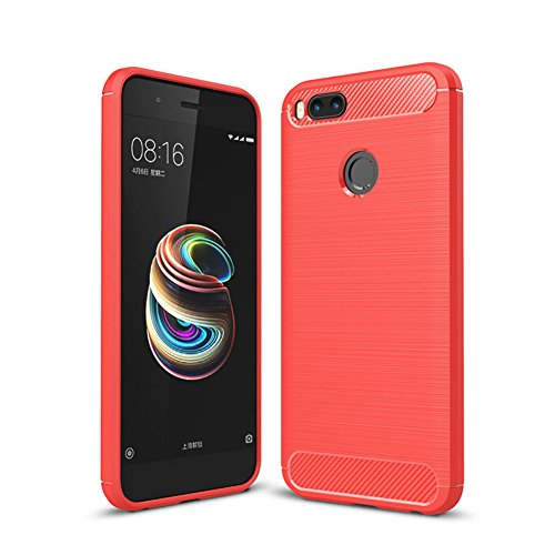 XMT Xiaomi Mi 5X,Xiaomi Mi A1 5.5' Custodia,Slim TPU Armor Cover Custodia per Xiaomi Mi 5X,Xiaomi Mi A1 Smartphonee(Rosso)