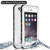 Funda iPhone 6 Plus, Funda iPhone 6s Plus, NewTsie Anti-rasguños Impermeable Carcasa Funda Case con Protector de Pantalla Submarino Caso para iPhone 6/6s Plus 5.5 Inch (B-Blanco)