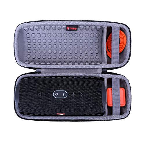 XANAD Duro Viajar Caso Cubrir para JBL Charge 4 Altavoz Bluetooth inalámbrico Portátil, Funda Protectora (Gris)