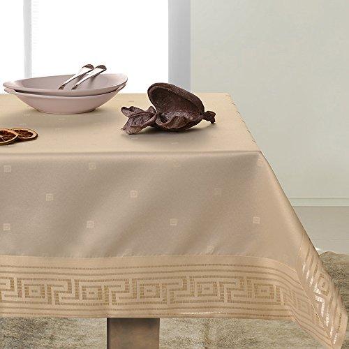DecoKing beige tafelkleed tafelkleed mooi patroon elegant praktisch onderhoudsvriendelijk vlekbestendig Ares