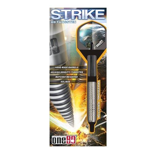ONE80 Unisex– Erwachsene Soft-Dartpfeile Strike Softip 18g, Silber