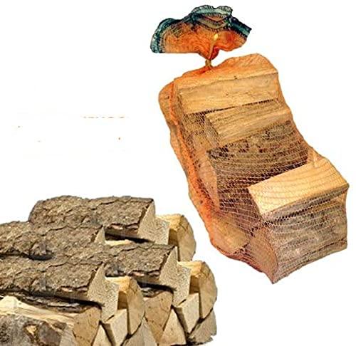 10 Sacchi da 15 kg legna da ardere 100% carpino 150 kg tronchetti per camino stufa (33 CM)