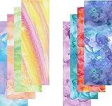 Watercolor Vinyl Sheets, Patterned Vinyl, Purple Blue Green Yellow, Adhesive Vinyl, 8-4'x12' Sheets (WC1&3)