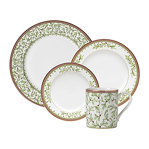 Mikasa Holiday Traditions 16 Piece Dinnerware Set, Service for 4