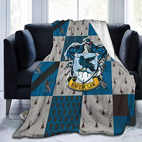 Ha_Rry P_Otter Flannel Fleece Throw Blanket, Raven-Claw Warm Fluffy Cozy Soft TV Bed Couch Sport Fans Girls Teens Gift Blanket Comfy Microfiber Velvet Plush Throw