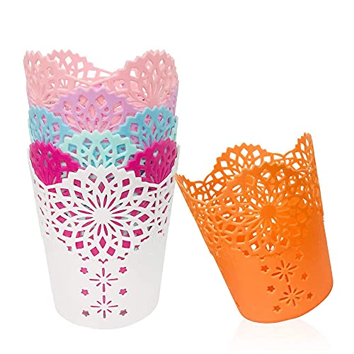 Migimi 7 portalápices de plástico hueco, soporte para bolígrafos, reglas o brochas de maquillaje