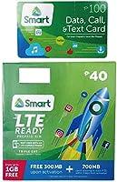 フィリピンSIMカード Smart SIMカード (オリジナル日本語説明書・ロードカード付) 7日間 電話番号付き LTE SIM Prepaid LTE Philippines Sim Card フィリピン国内都市部向けSIMカード