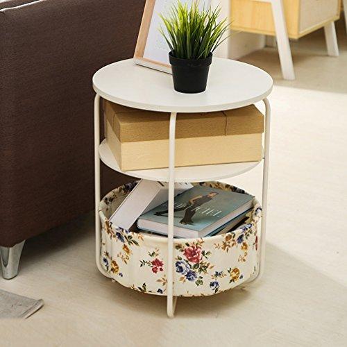 3 niveaux étagère debout unité Table basse Magzine support Rack salon pour la maison chambre bureau cuisine salle de bains (taille: 42 * 42 * 53 cm) (Couleur : #2)