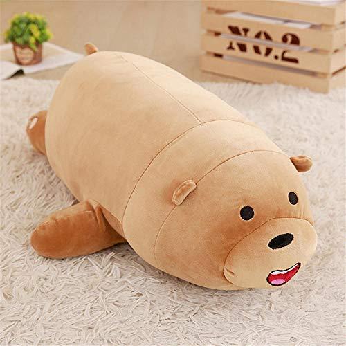 JMKHY Bear Plush Toys Panda soft cushion stuffed doll Boy Birthday Day 3D Pillow-50cm_brown