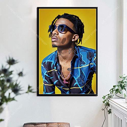 JLFDHR Leinwanddruck 50x70cm ohne Rahmen Playboi Carti Hip Hop Rap Musik Sänger Rapper Star Home Decoration