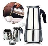 cafetera acero inoxidable 12 tazas,Cafetera espressos en Acero inoxidable, (12 tazas) Cafetera Clásica Italiana