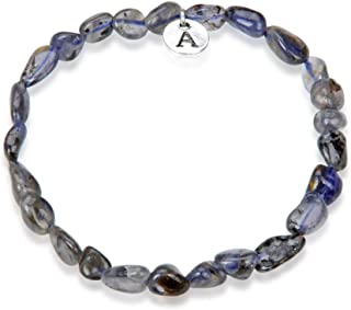Adabele 1pc Natural 7 inch 7.5 inch Gemstone Bracelet Stretchy Chakra Gems Stones 5-8mm Free Form Beads Healing Crystals Engergy Quartz Women Girls Birthday Gift