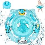 Baby Schwimmring,Baby Float schwimmreifen,Baby schwimmring aufblasbarer,Baby Pool Schwimmring,Aufblasbarer Schwimmreifen für Kinder,Schwimmring für Kinder ab 6 bis 36 Monaten,Blau