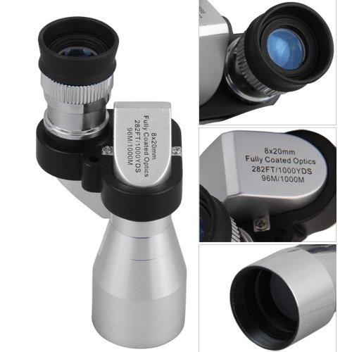Mini Telescopio Monocular 8X20 en Aluminio de Aleación