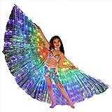 ECOSWAY - Disfraz de Mariposa con alas de arcoíris para niños