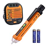 Neoteck Electrical Socket Voltage Tester Pen Kit Included Non-Contact 12-1000V AC Voltage Detector