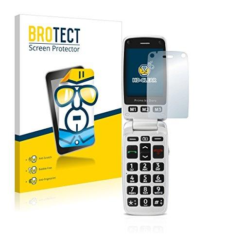 2X BROTECT HD Clear Bildschirmschutz Schutzfolie für Doro Primo 413 (kristallklar, extrem Kratzfest, schmutzabweisend)