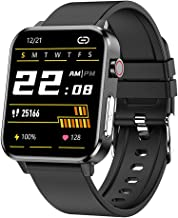 Smartwatch, fitnesstracker met hartslagbloeddrukmeter, bloedzuurstofmeter, ody-temperatuurmeting, stappenteller, slaaptrac...