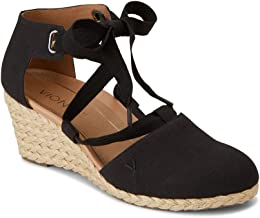 Vionic Women's Aruba Kaitlyn Lace-up Wedge - Ladies Espadrille Wedges with Concealed Orthotic Arch Support