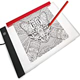 LED Light Box for Drawing and Tracing Portable Ultra-Thin Tracing Light Pad by Illuminati USB Powered A4 Bright Trace Table for Artists - Comes with Dimmable Brightness - Tracing Paper - Holder Clip