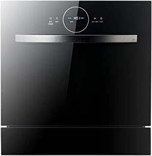 Guoda Lavavajillas Encimera Portátiles Lavavajillas Lavavajillas Lavavajillas Empotrable De Dos En Uno 1380W De Alta Temperatura De Esterilización Y Secado De Alta Capacidad (Color : Black)
