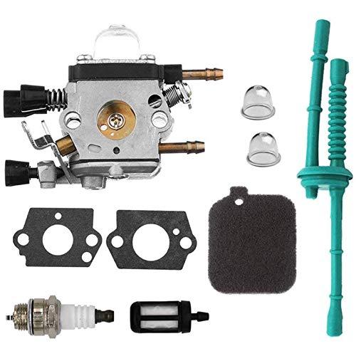 MAMINGGANG MmGang®. Ersetzen von Vergaser Carb Kit ersetzen mit Birnenluftfilter Kraftstofffilter FÜSSE FÜR STIHL BG45 BG46 BG55 BG65 BG85 KIT (Color : Black)