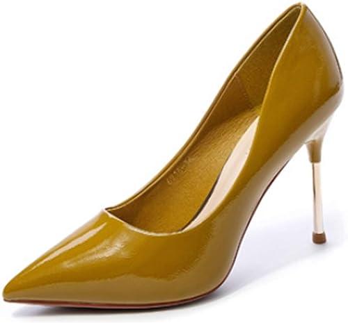 GY GY Bouche Peu Profonde Pointu Chaussures pour Femmes Stiletto Wild Ultra Talons Hauts Night Shop Chaussures de Travail Chaussures de Mariage Les Les dames,or-36EU  produits créatifs