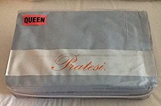 Pratesi Queen Sheet Set Hand Made in Italy -Blue skies