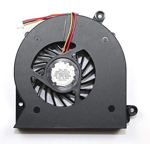 Por Unbrand - Ventilador de CPU para Toshiba Satellite A505, A505D, L510, L515, L500, L500D, L505, L505D, P/N: V000170240, UDQFRZP01C1N, V000180300