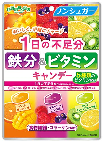1日の不足分 鉄分&ビタミンキャンデー 6袋