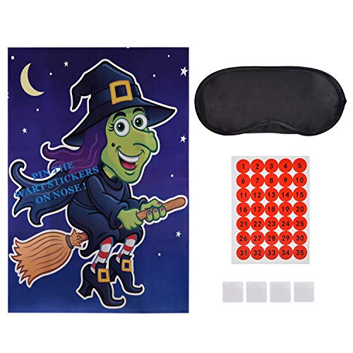 Lynlon Halloween Spiele - GEBEN SIE DIE Hexe EINEN WART - bis zu 35 Spieler, Witziges Spiel für den Halloween Party