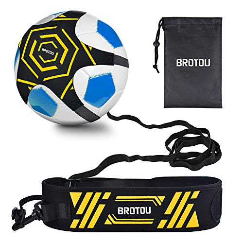 Football Trainer Banda, Football Solo Kick Trainer Elástica para Entrenamiento de Fútbol Soccer Skill Trainer Kit for Niños Adultos (Negro # 2)