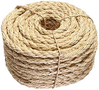 ATERET 3/8 Inch by 100-Feet Sisal Rope I Natural Fiber Twisted Sisal Rope I Multipurpose, Lightweight, Weather-Resistant R...