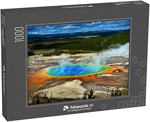 Puzzle 1000 Teile Grand Prismatic Pool im Yellowstone Nationalpark Farben - Klassische Puzzle, 1000/200/2000 Teile, in edler Motiv-Schachtel, Fotopuzzle-Kollektion 'USA'