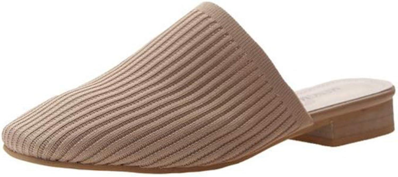 Women's Mule Flat Mules Slides Slipper Slip On Flats for Women Lightest Weight in Premium Perfect for Travel, Walking shoes + Comfort Memory Foam Footbed,Khaki,US9B(M)