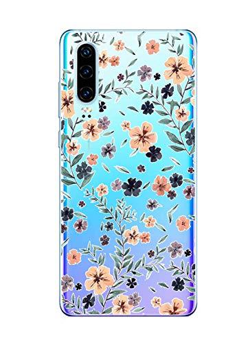 Oihxse Funda Huawei Nova Lite, Ultra Delgado Transparente TPU Silicona Case Suave Claro Elegante Creativa Patrón Bumper Carcasa Anti-Arañazos Anti-Choque Protección Caso Cover (A14)