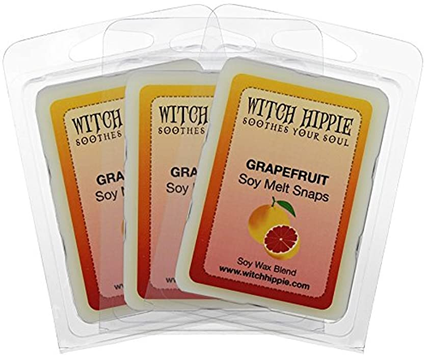 Witch Hippie Grapefruit Scented Wickless Candle Tarts 3 Pack,18 Natural Soy Wax Cubes Sweet Citrus Scent Reminiscent Of A Fresh Cut Morning Grapefruit