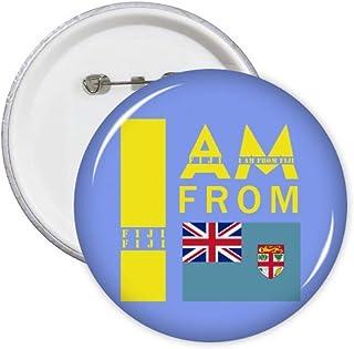 Lot de 5 badges I Am from Fiji Art Déco Cadeau Mode Badge Badge Emblème Accessoire Décoration