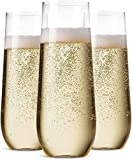 36 Pack Stemless Plastic Champagne...