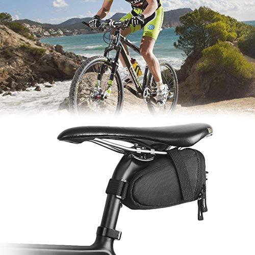 Bolsa para sillín de bicicleta, bolsa para portabicicletas, manillar, bicicleta de ciclismo...
