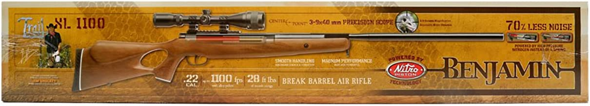 Crosman Benjamin Trail NP XL 1500 .177 Caliber Nitro Piston Air Rifle with Hardwood Stock Includes 3-9 X 40mm Scope