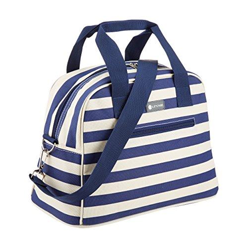 KitchenCraft CMSTRPBAG Coolmovers Blue Stripe Holdall-Style Cool Tasche, 11,5 Liter - blau / weiß